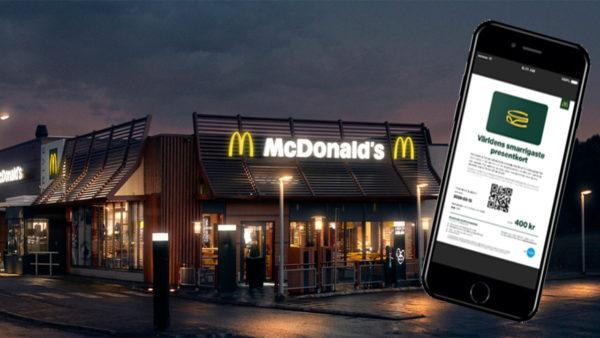 McDonalds väljer Retain24 för presentkort i alla sina kanaler!