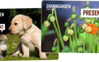 Granngården låter köparen designa sina presentkort.