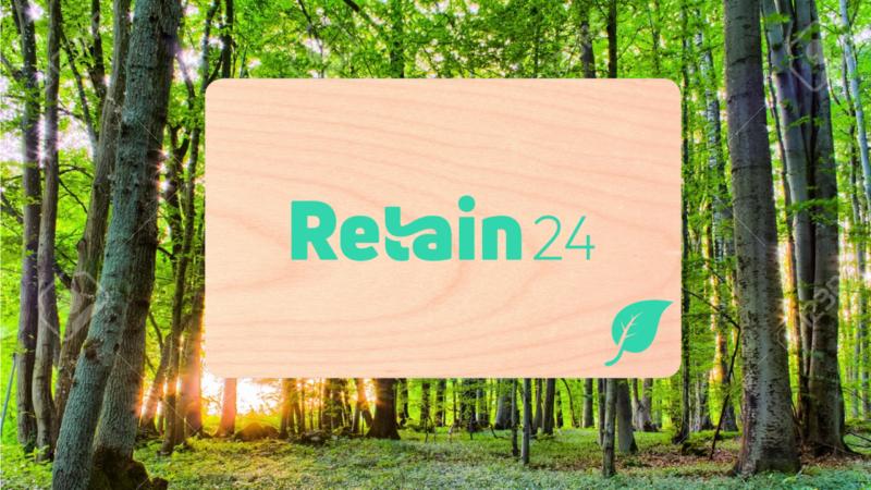 Välj miljövänliga presentkort med Retain24!